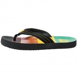 Reef Youth Ahi Sandals - Black/Rasta