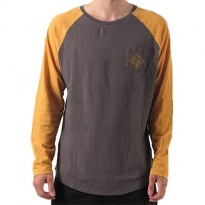 Reef Diamond Long Sleeve Top - Charcoal