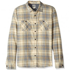 Reef Cold Dip 10 Long Sleeve Flannel - Grey Heather