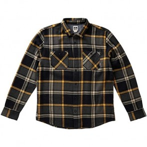 Reef Ice Dip Long Sleeve Flannel - Black