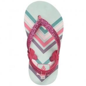 Reef Youth Girls Little Stargazer Prints Sandals - Mint Chevron