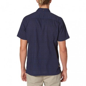 Reef Tribe Short Sleeve Shirt - Navy