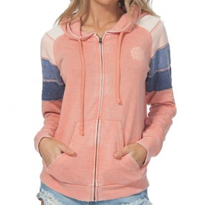 Rip Curl Women's Freedom Zip-Up Hoodie - Salmon