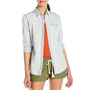 Rip Curl Women's Ventura Button-Up Top - Blue