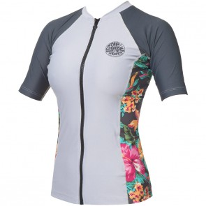 Rip Curl Wetsuits Women's Beach Party Short Sleeve Rash Guard