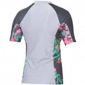 Rip Curl Wetsuits Women's Beach Party Short Sleeve Rash Guard - Dapple Grey