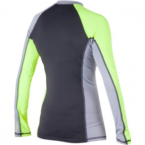 Rip Curl Wetsuits Women's Surf Session Long Sleeve Rash Guard - Lime