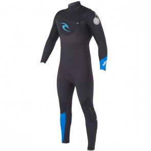 Rip Curl E-Bomb 3/2 Chest Zip Wetsuit - Black/Blue