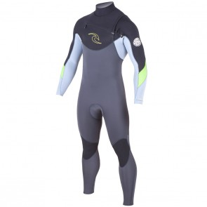 Rip Curl Dawn Patrol 3/2 Chest Zip Wetsuit - Grey