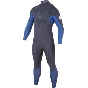 Rip Curl Dawn Patrol 4/3 Chest Zip Wetsuit - Navy