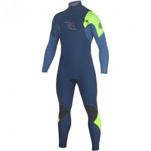 Rip Curl E-Bomb 3/2 Chest Zip Wetsuit - Navy
