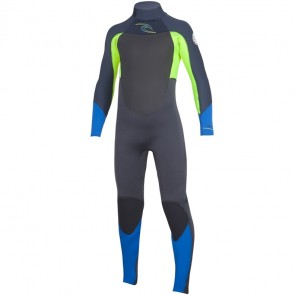 Rip Curl Youth Dawn Patrol 4/3 Back Zip Wetsuit - Lemon