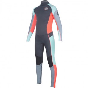 Rip Curl Youth Girls Dawn Patrol 4/3 Back Zip Wetsuit - Grey