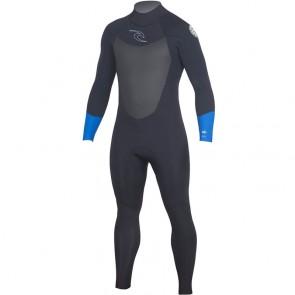 Rip Curl Dawn Patrol 4/3 Back Zip Wetsuit - Blue