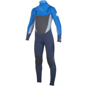Rip Curl Youth Dawn Patrol 4/3 Chest Zip Wetsuit - Blue