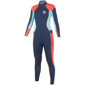 Rip Curl Women's Dawn Patrol 3/2 Back Zip Wetsuit - Navy
