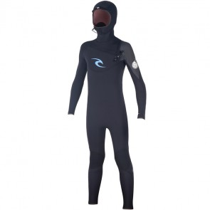 Rip Curl Youth Flash Bomb 5/4/3 Hooded Wetsuit - Black