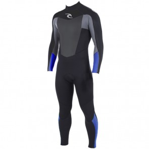 Rip Curl Omega 3/2 Flatlock Back Zip Wetsuit - Blue