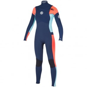 Rip Curl Women's Dawn Patrol 3/2 Chest Zip Wetsuit - Navy