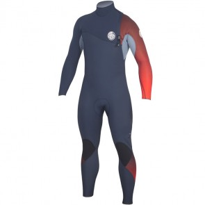 Rip Curl E-Bomb Pro 3/2 Zip Free Wetsuit - Red
