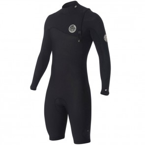 Rip Curl E-Bomb Pro Long Sleeve Zip Free Spring Suit - Black