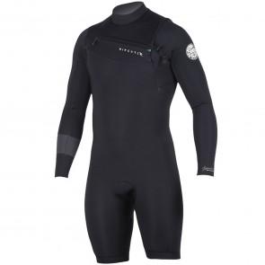 Rip Curl Aggrolite 2mm Long Sleeve Chest Zip Spring Suit - Black