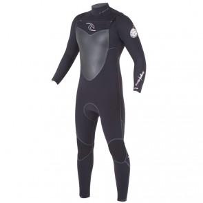 Rip Curl Flash Bomb 4/3 Chest Zip Wetsuit - Black