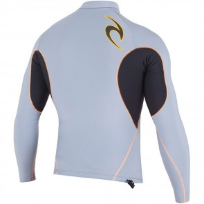 Rip Curl Wetsuits Flash Bomb 0.5mm Long Sleeve Jacket - Grey