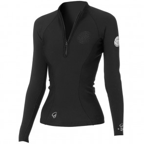 Rip Curl Wetsuits Women's G-Bomb Long Sleeve Jacket - Black