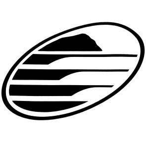 Cleanline Surf Big Rock Oval Sticker - Black