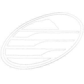 Cleanline Surf Big Rock Oval Sticker - White