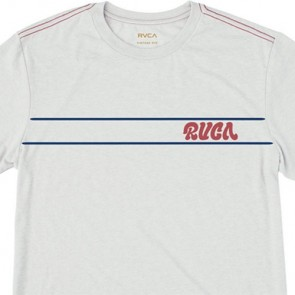 RVCA Script Stripe T-Shirt - Warm Grey