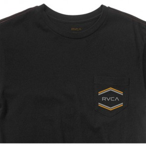 RVCA Double Hex Pocket T-Shirt - Black