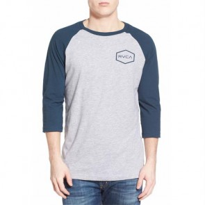 RVCA Hexed Raglan Top - Athletic Heather