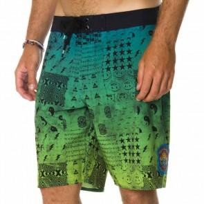 RVCA Fetcher Blotter Boardshorts - Cyan