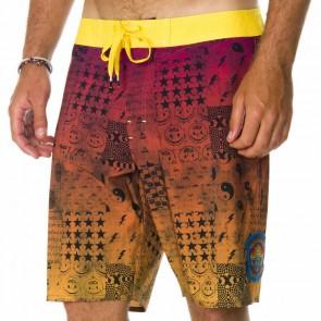 RVCA Fetcher Blotter Boardshorts - Magenta Fade