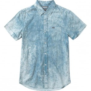 RVCA Salt Bath Short Sleeve Shirt - Indigo