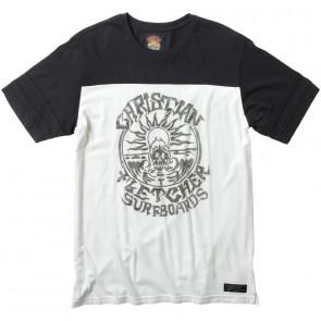 RVCA Fletcher Jersey T-Shirt - Vintage White