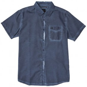 RVCA Cold Ones Short Sleeve Shirt - Dark Denim