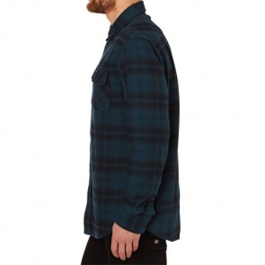 RVCA Standoff Long Sleeve Shirt - Midnight