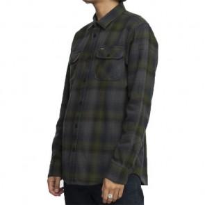 RVCA Highland Long Sleeve Plaid Shirt - Forest