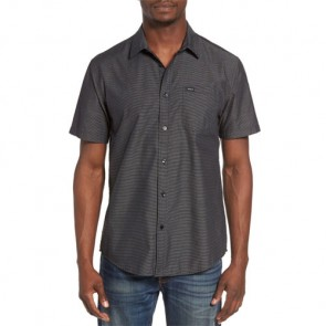 RVCA Curren Stripe Short Sleeve Shirt - Black