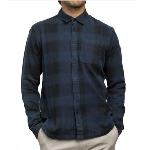 RVCA Pressured Flannel - Faded Indigo