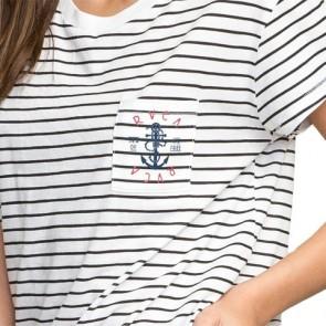 RVCA Women's Sea Pocket T-Shirt - Vintage White/Black