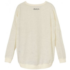 RVCA Women's Mort Mandala Long Sleeve Top - Vintage White