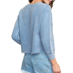 RVCA Women's Small RVCA Embroidered Sweatshirt - Ace Blue
