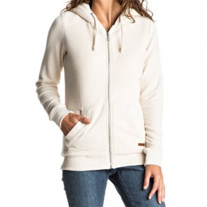 Roxy Women's Beauty Stardust Sherpa Zip Hoodie - Metro Heather