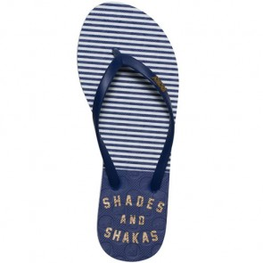 Roxy Women's Viva Stamp Sandals - Navy/Gold