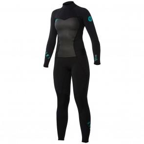 Roxy Women's Syncro 3/2 Flatlock Back Zip Wetsuit - Black