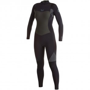 Roxy Women's Syncro 3/2 Back Zip Wetsuit - Black